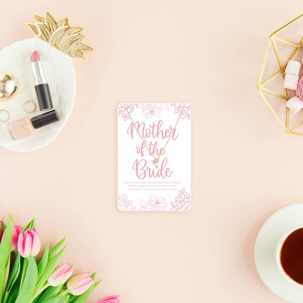 Mother of the Bride Necklace & Keepsake Card