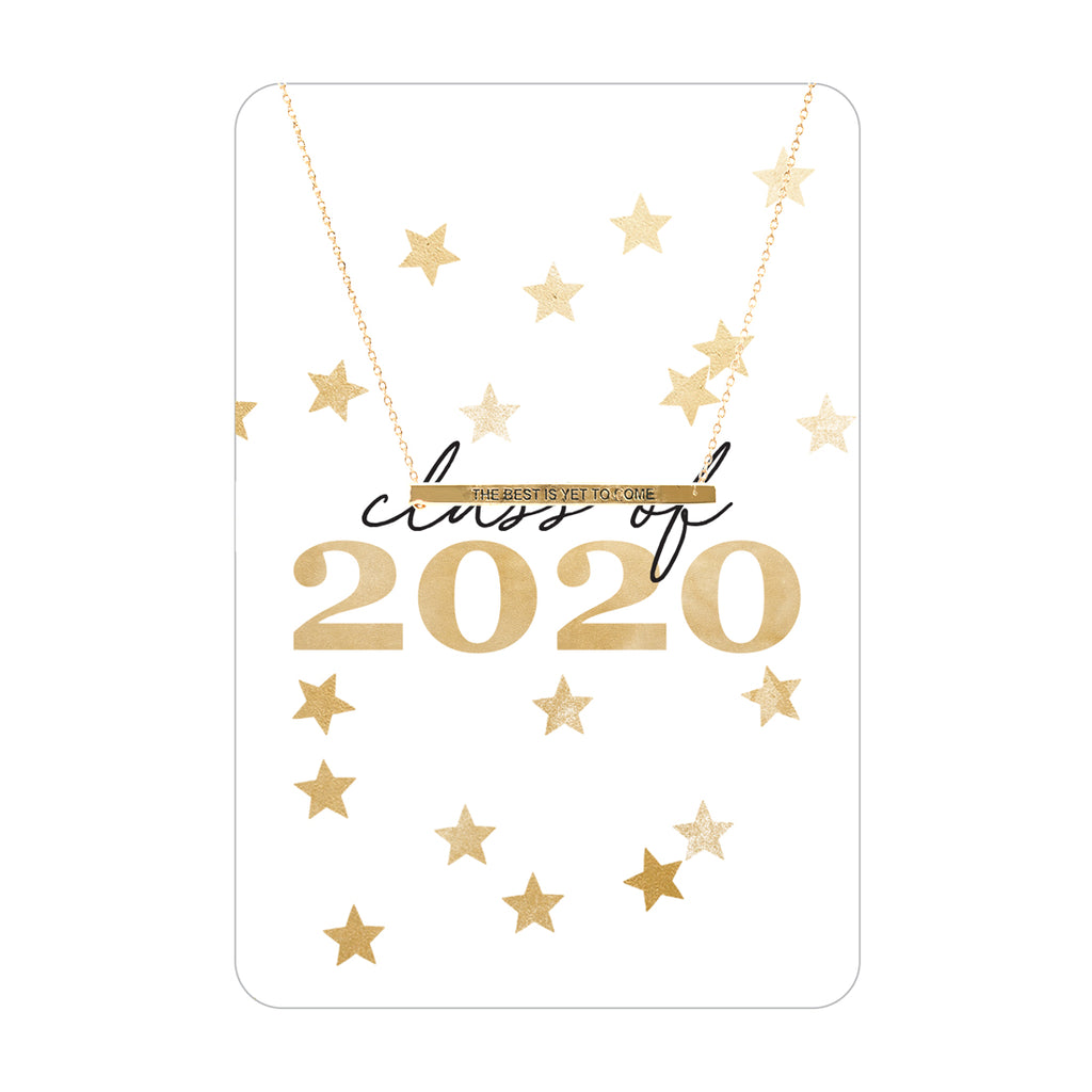 Gold Class of 2020 Necklace