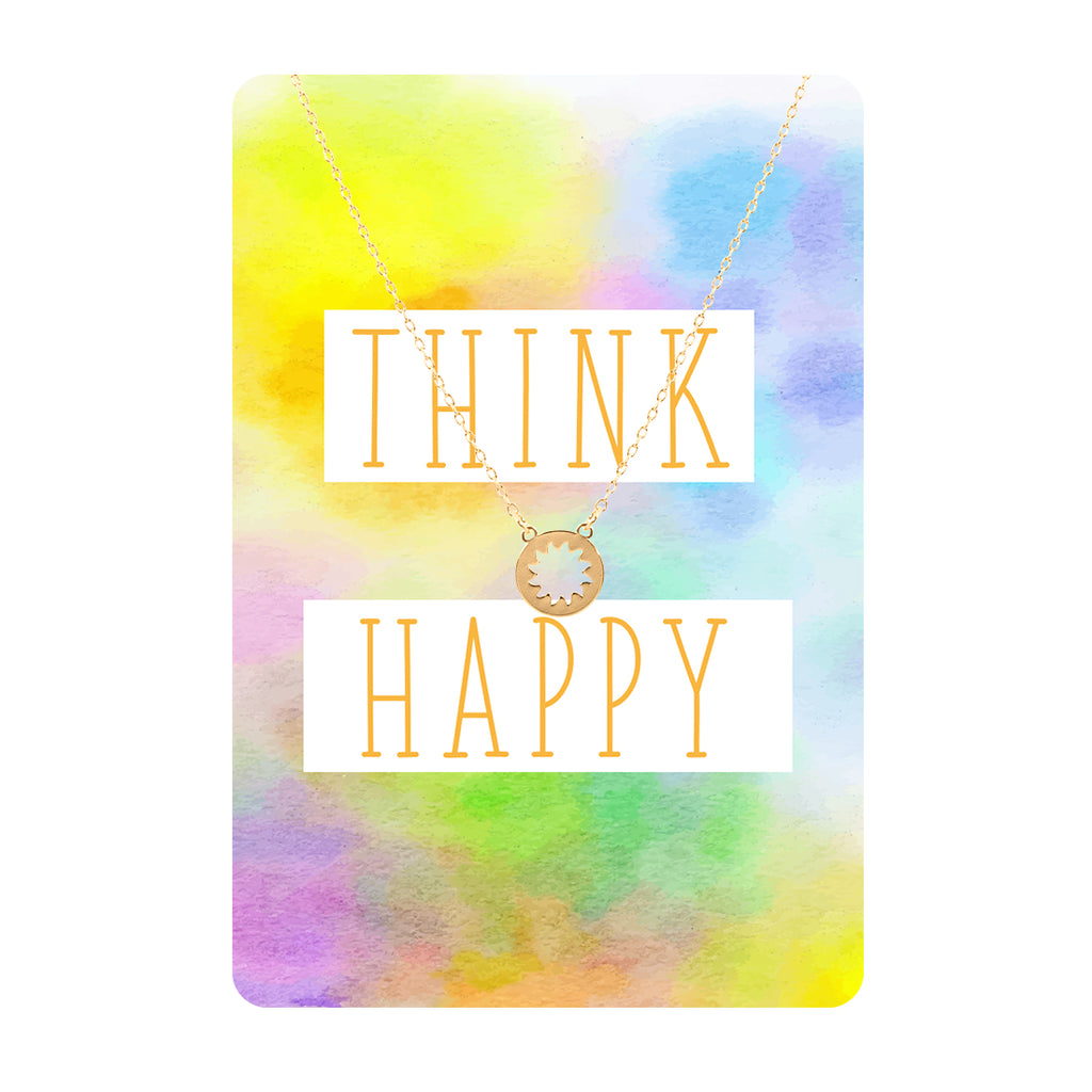 Think Happy Keepsake Necklace Card