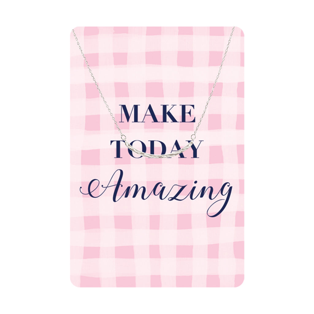Make Today Amazing Keepsake Necklace Card