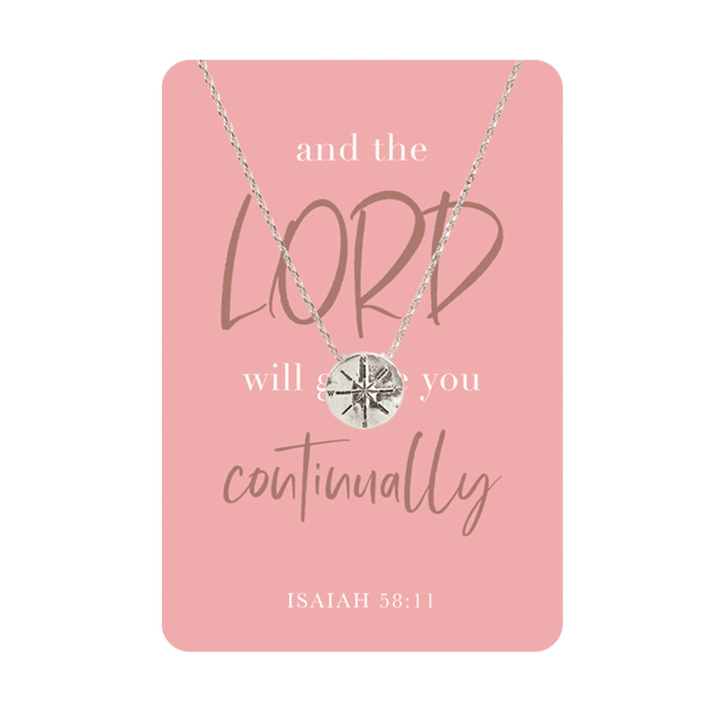 Isaiah 58:11 Keepsake Necklace Card
