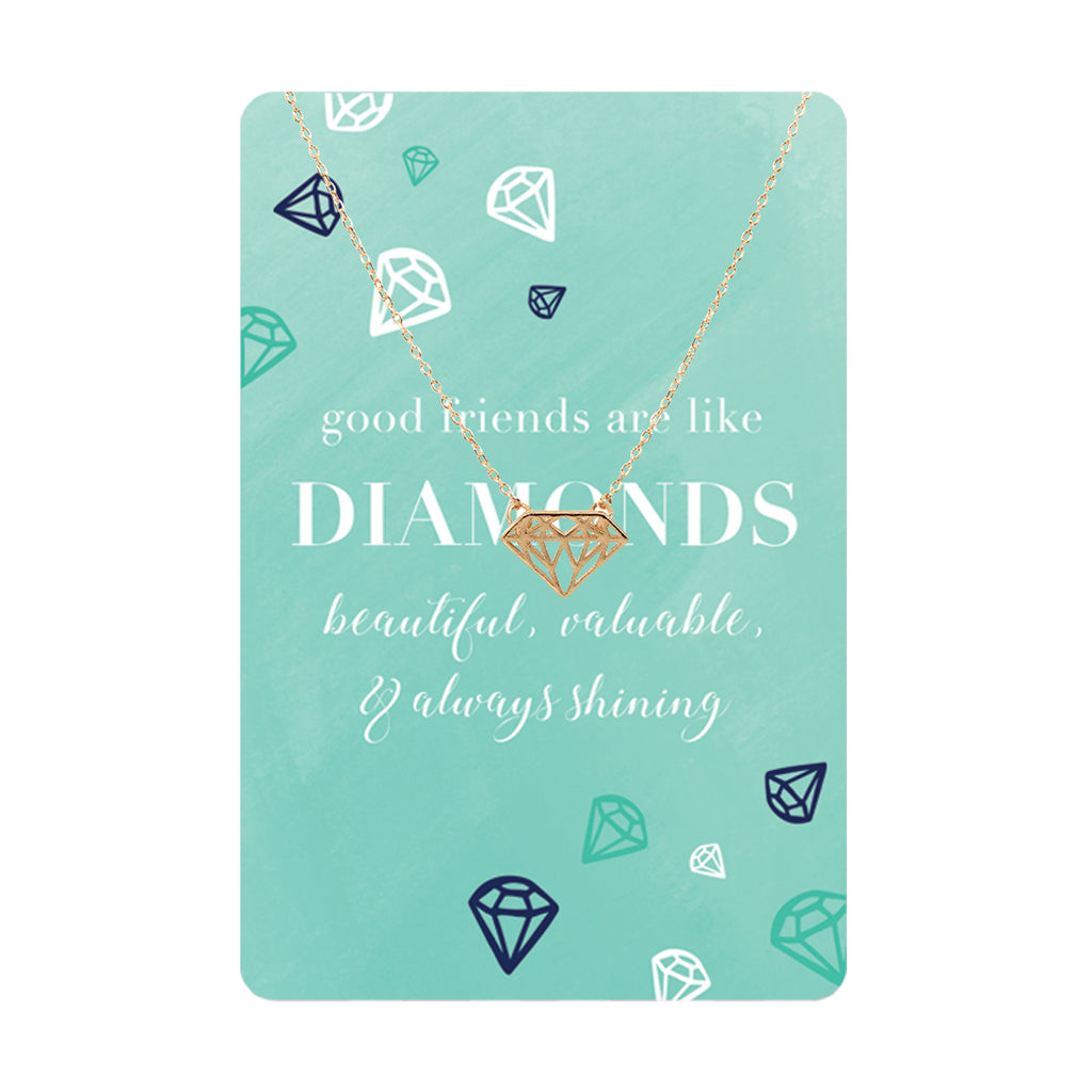 Diamonds Keepsake Necklace Card