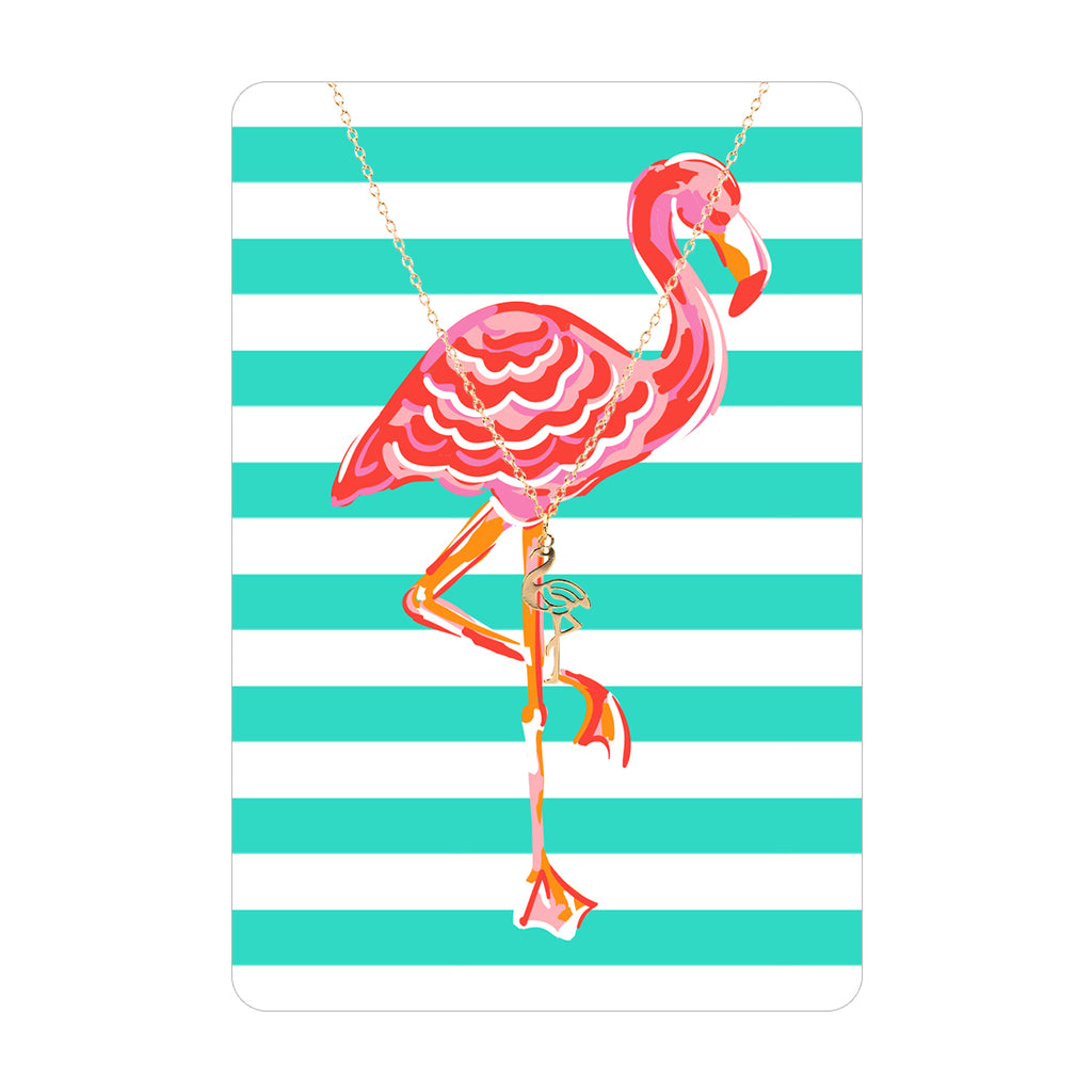 Gold Flamingo Necklace