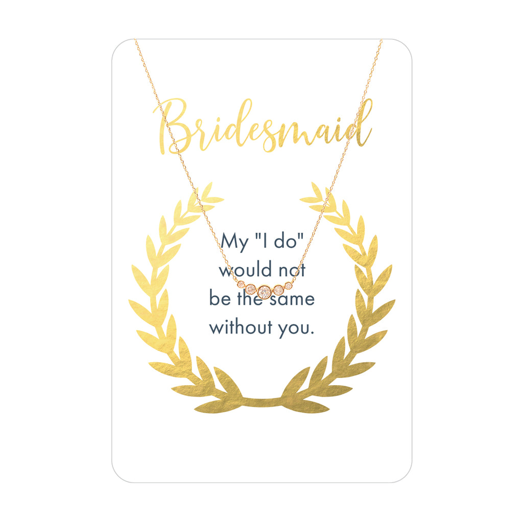 Bridesmaid Keepsake Necklace Card