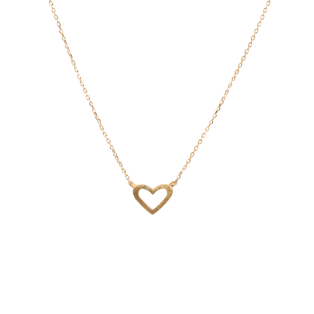Gold Heart Color Me Happy Necklace