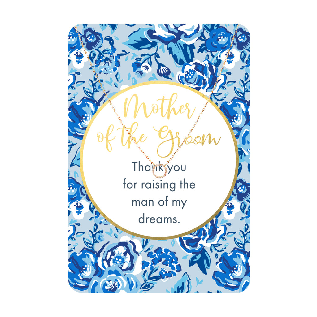 Mother of the Groom Keepsake Necklace Card