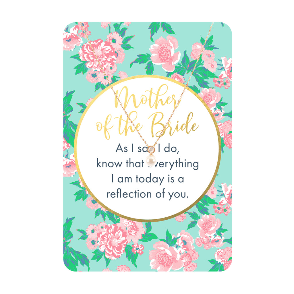 Mother of the Bride Keepsake Necklace Card