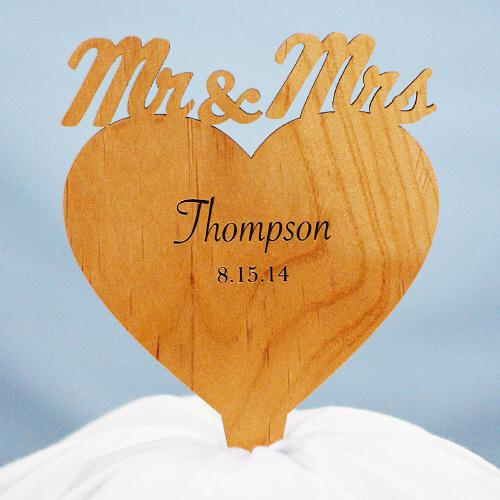 Personalized Engraved Cake Topper