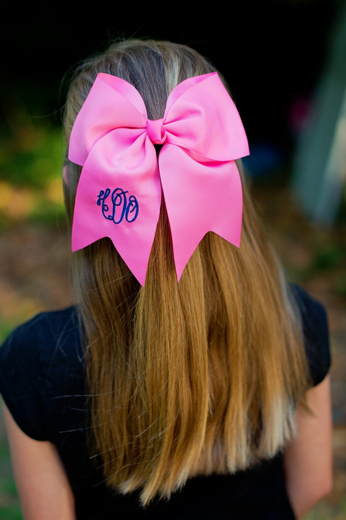 Personalized Girls Hair Bow Barrette Clip Monogrammed Embroidered - Gifts Happen Here - 3
