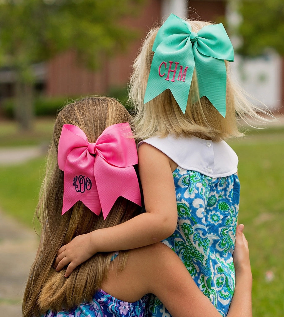 Personalized Girls Hair Bow Barrette Clip Monogrammed Embroidered - Gifts Happen Here - 4