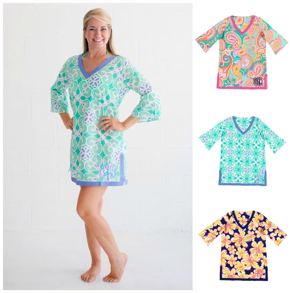 Personalized Tunic Beach Cover Up Shirt - Gifts Happen Here - 1