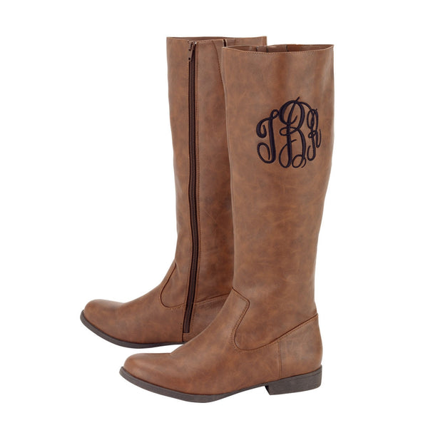 Personalized Monogrammed Brooklyn Boots Brown - Gifts Happen Here - 1