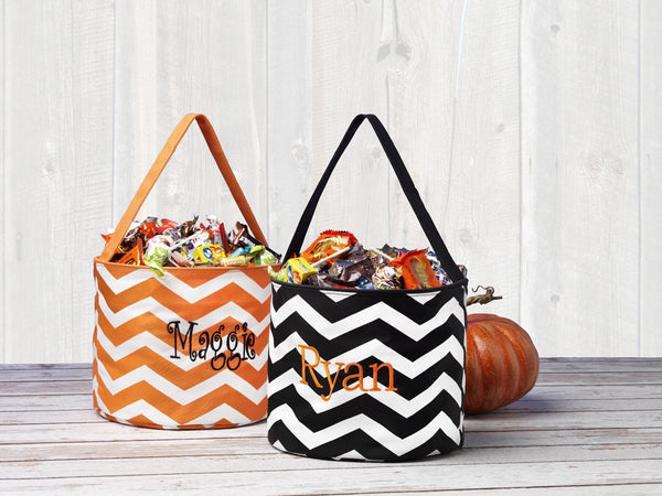 Personalized Kids Halloween Trick or Treating Bag Bucket Candy Tote - Gifts Happen Here - 6