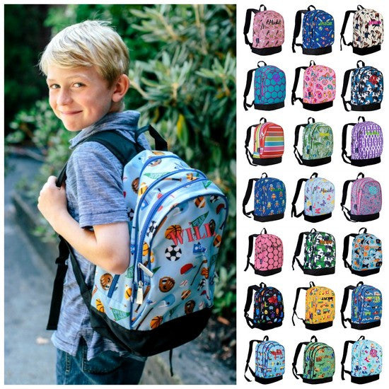 Personalized Wildkin Sidekick Backpack Horses in Pink - WLD-14-ALL - Includes Personalization -Large backpack geared toward Elementary and Preschool students -Available in over 30 prints!