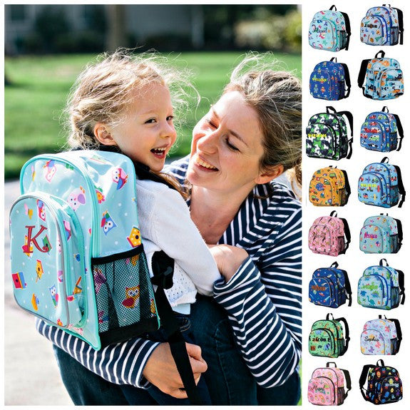 Personalized Wildkin Pack n Snack Backpack Horses in Pink - WLD-40-ALL - Includes Personalization -Built-in insulated compartment keeps snack or lunch ready for Kids in Preschool and Kindergarten