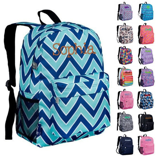 Personalized Wildkin Crackerjack Backpack Horses in Pink - WLD-57-ALL - Includes Personalization -Mid-sized backpack for Elementary and Jr. High Students.  Available in 30+ fashionable patterns
