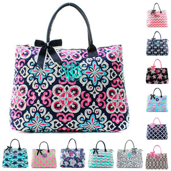 Monogrammed Quilted Bags, Duffles & Totes | GiftsHappenHere.com ... : quilted travel tote - Adamdwight.com