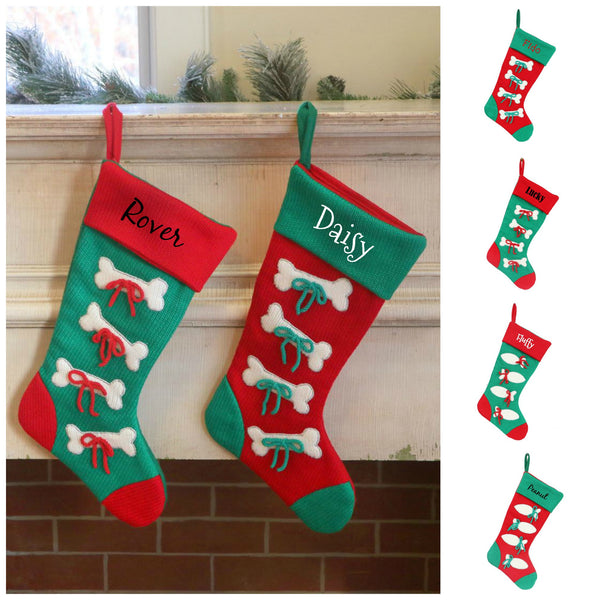 Personalized Pet Stockings for Dogs & Cats