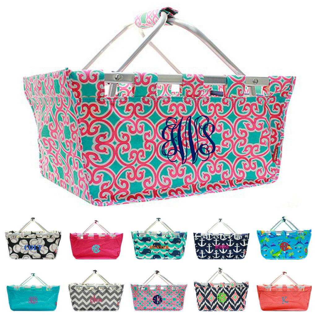 "Personalized 18"" Large Market Utility Tote Basket"