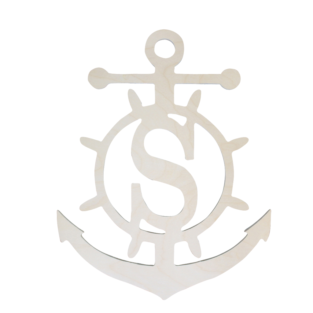 Pesonalized Anchor Wood Monogram