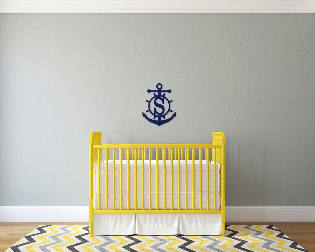 Personalized Anchor Wood Monogram