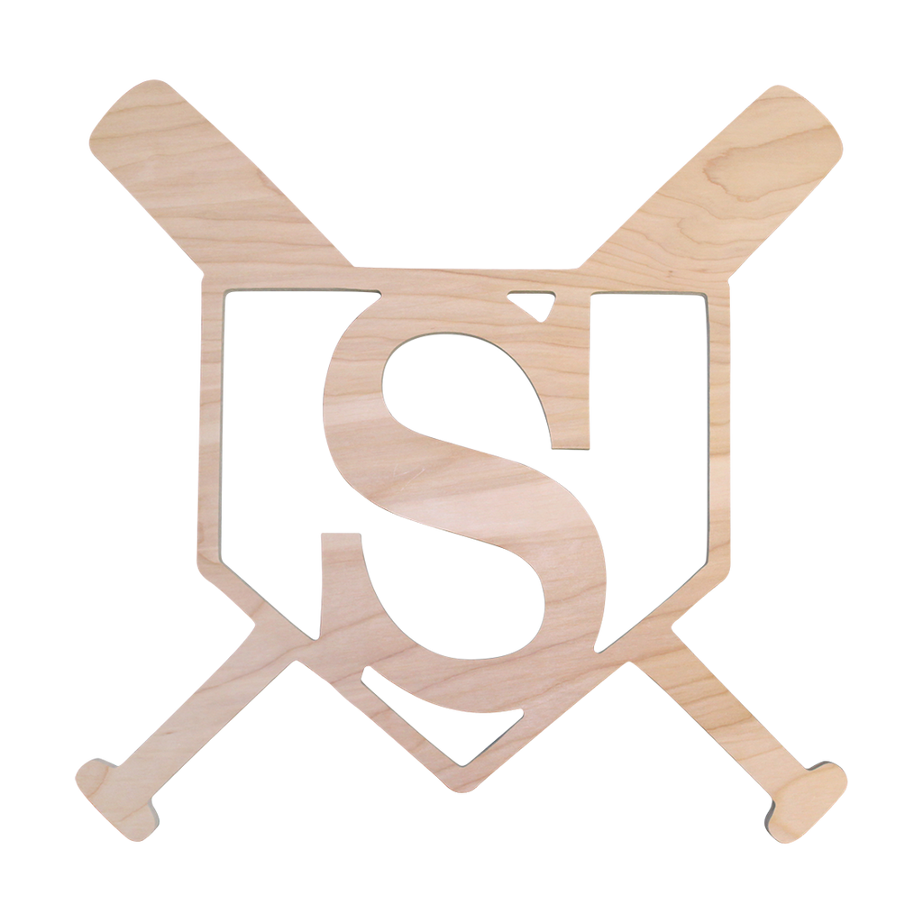 Personalized Home Plate Wood Monogram