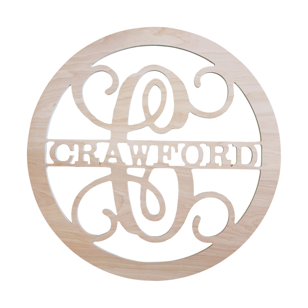 "Personalized 22"" Name Wood Monogram"