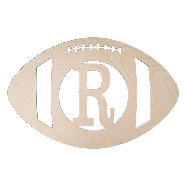 "Personalized 18"" Football Wood Monogram"