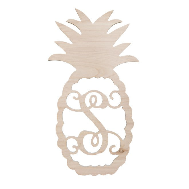 "Personalized 22"" Pineapple Wood Monogram"