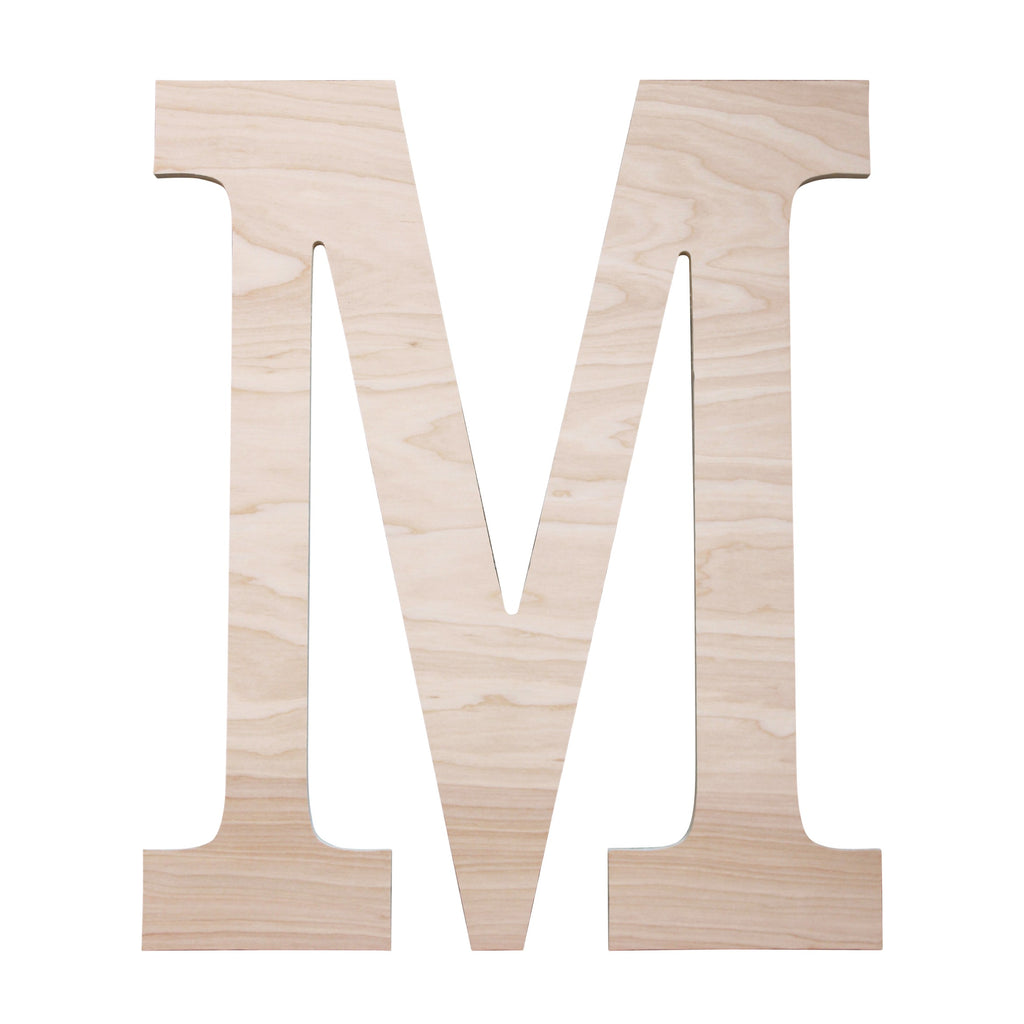 "Personalized 18"" Single Initial Wood Monogram"