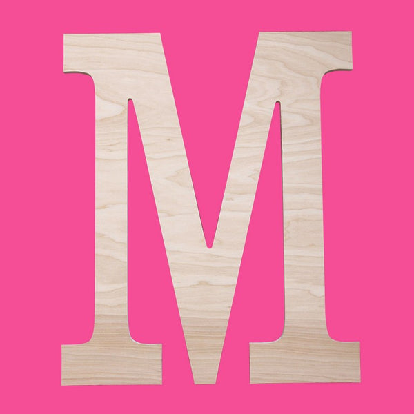 "Personalized 12"" Single Initial-Classic Wood Monogram"