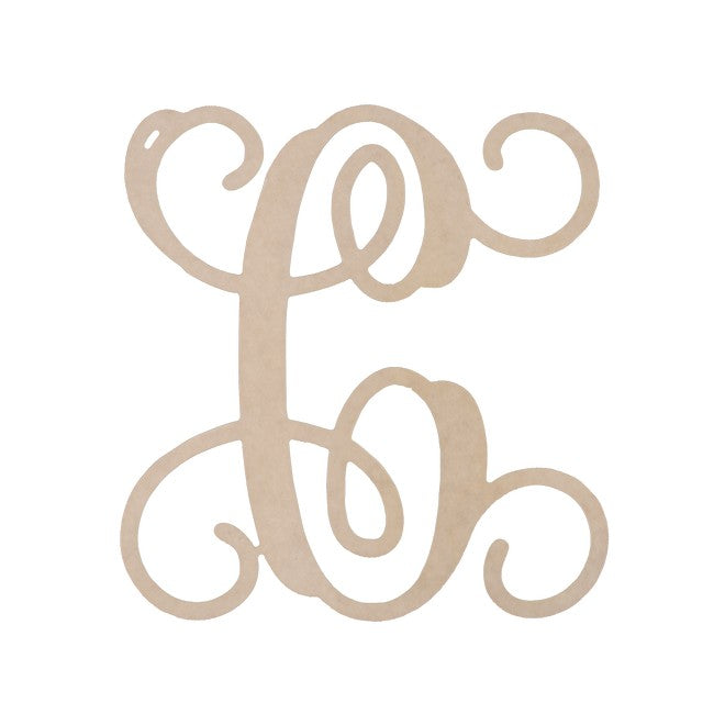 "Personalized 12"" Single Initial Wood Monogram"