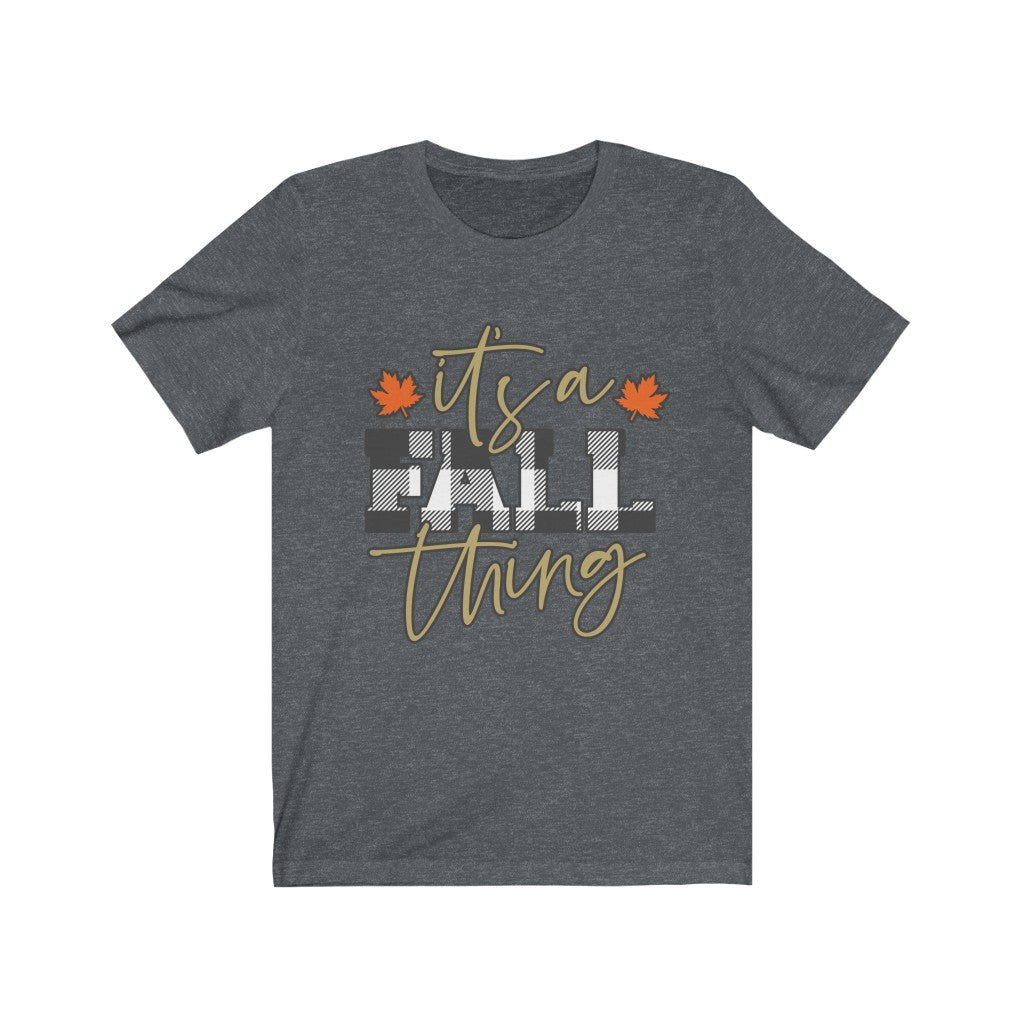 It's a Fall Thing - Buffalo Plaid T-Shirt - Short Sleeve Tee