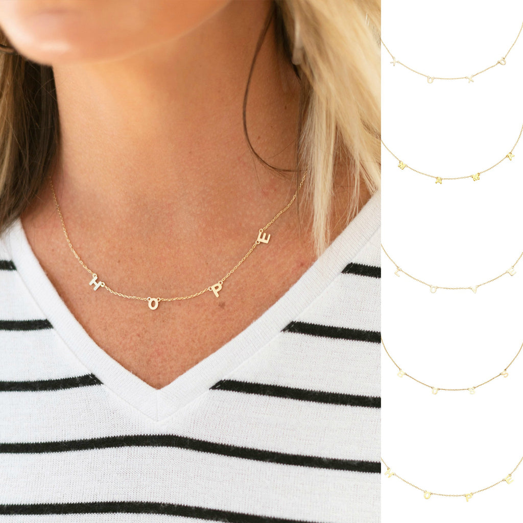 Dainty Inspiration Necklace - Mama, Boss, Love, Hope, XOXO