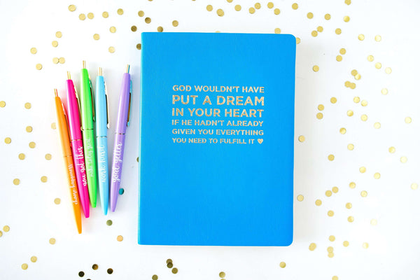 God Put a Dream in Your Heart Notebook