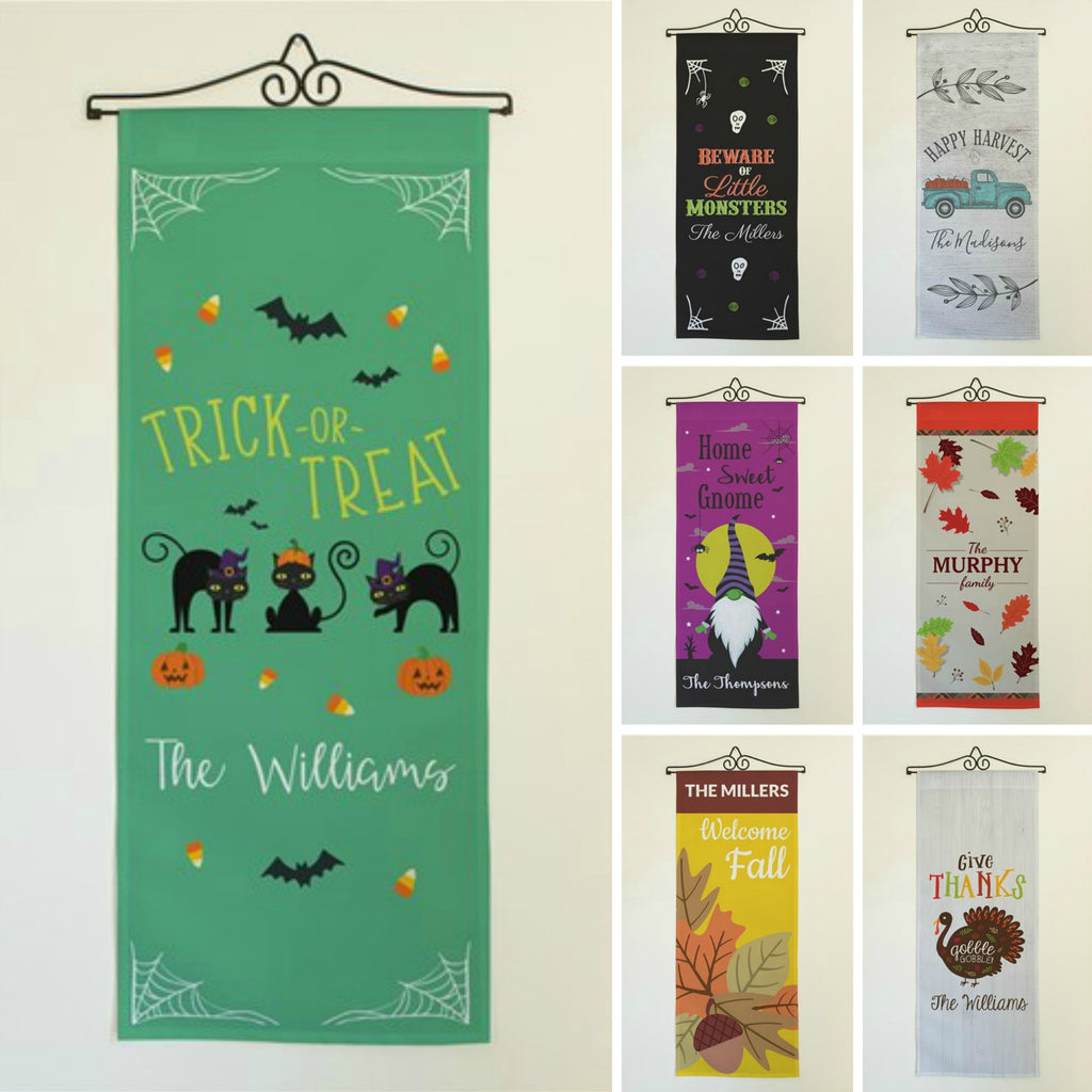 Personalized Halloween & Fall Wall Banners Signs