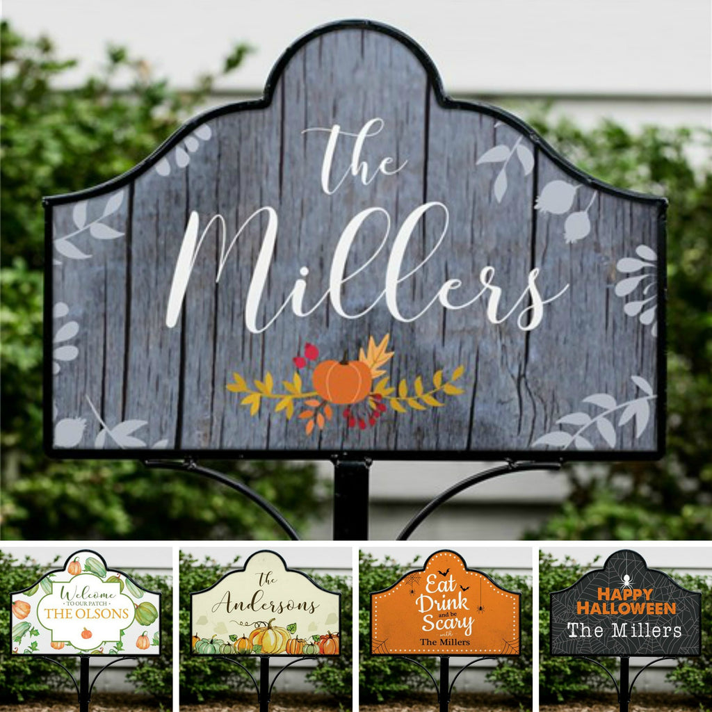 Personalized Halloween & Fall Yard Signs - Magnetic