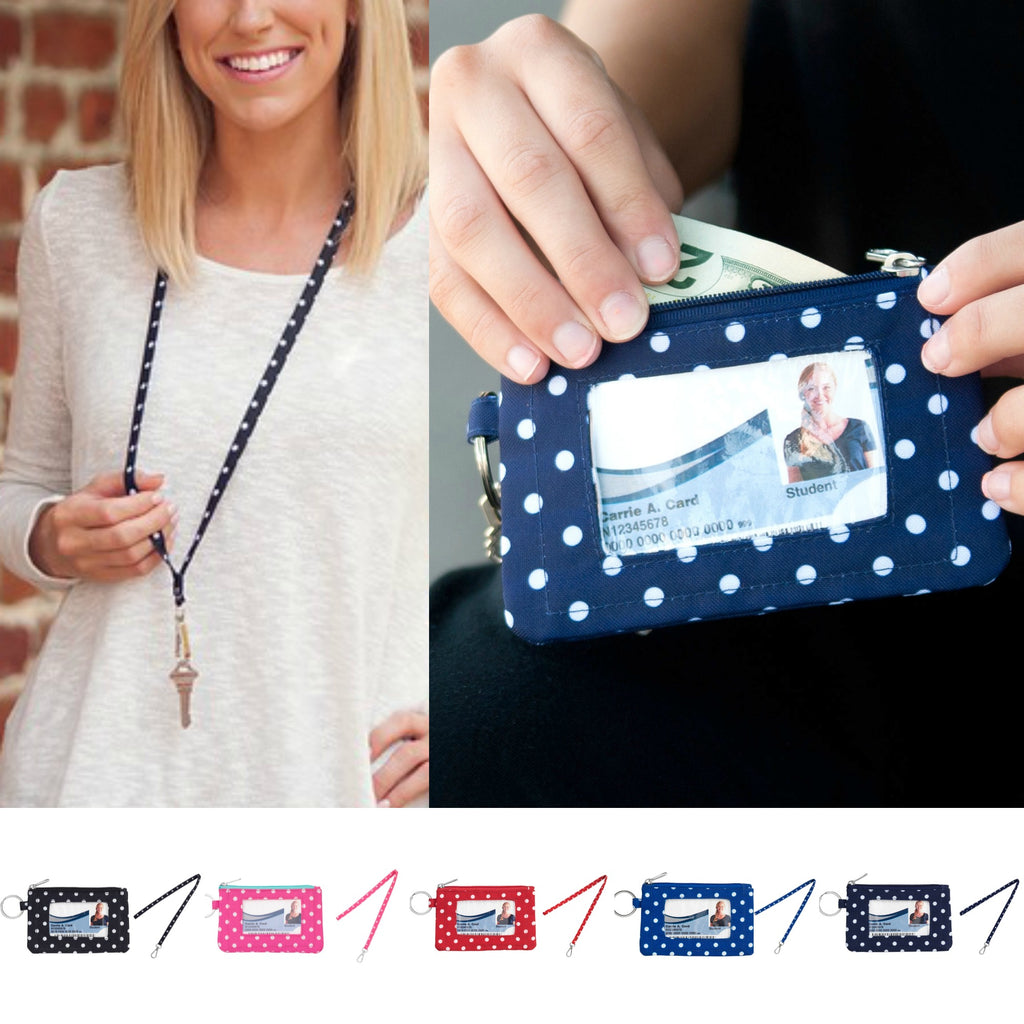 Polka Dot ID Cases & Lanyards