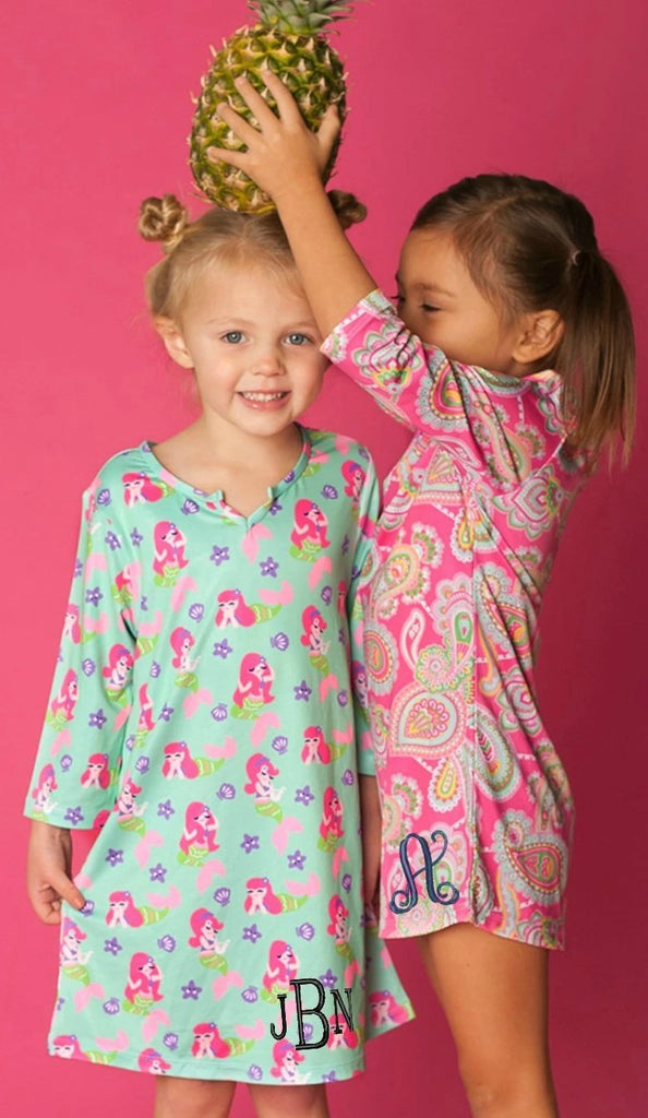 Personalized Girls Tunic - Beach Coverup