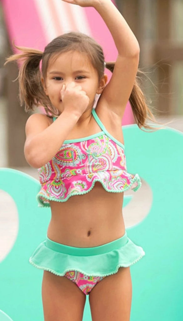 Monogrammed Girls Bikini Swim Suit Set