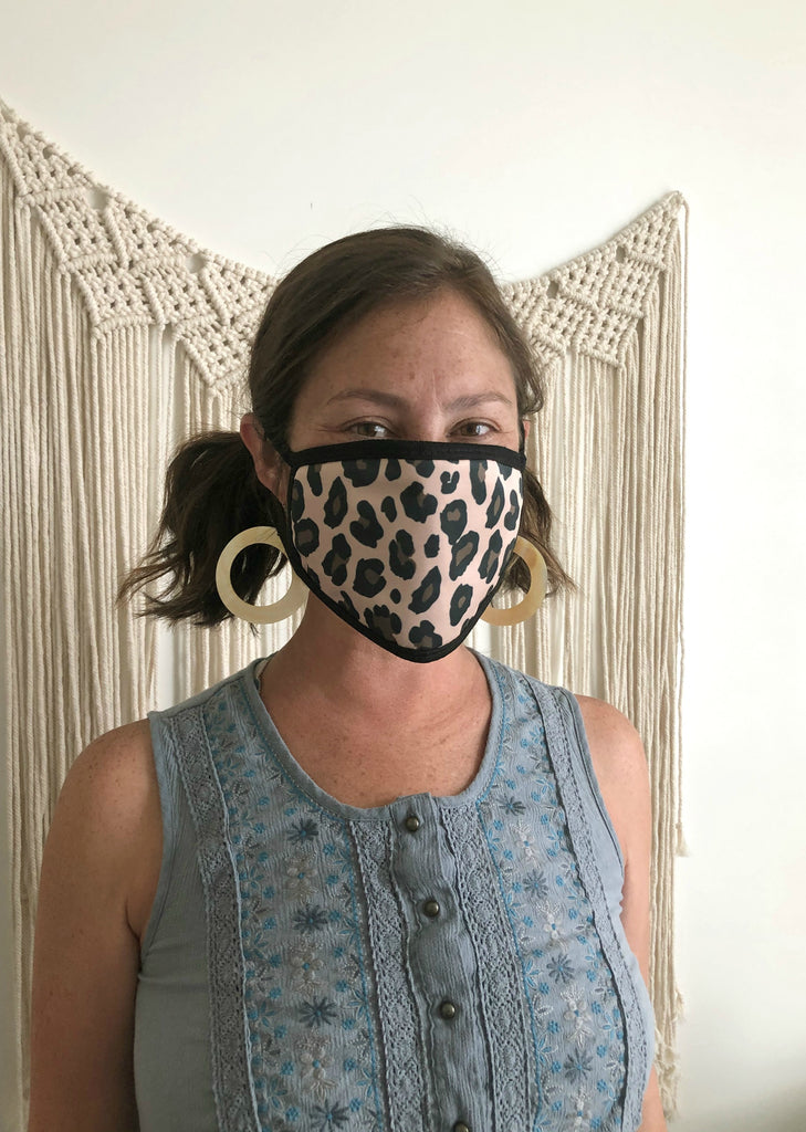 Leopard Print Face Masks - Adults & Kids - Patterned Fabric