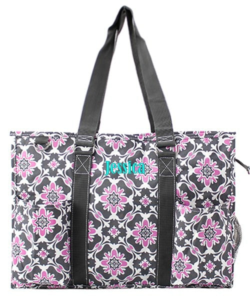 "Personalized 18"" Large Organizing Utility Tote Bag"