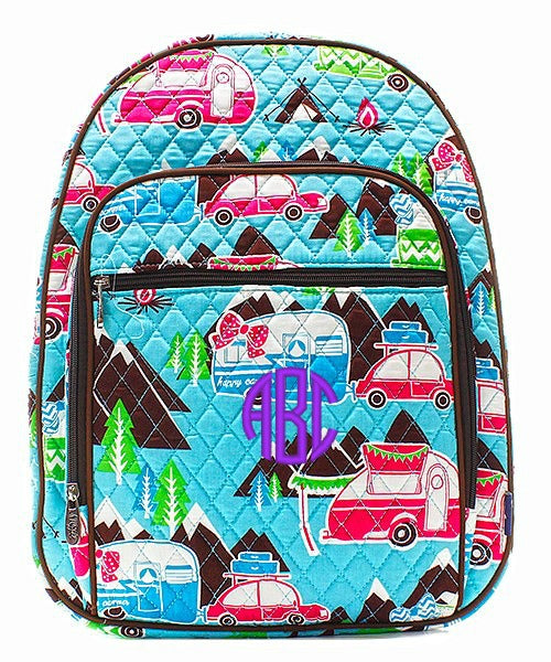 "Personalized 18"" Quilted Backpack / Bookbag"