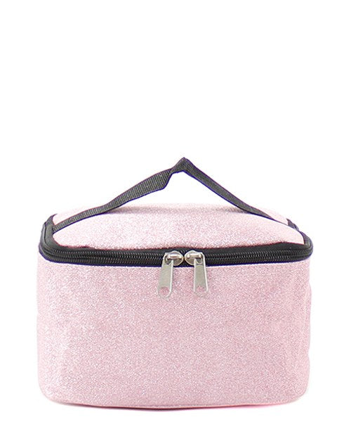 Matching Glitter Duffle Bag & Cosmetic Pouch Set