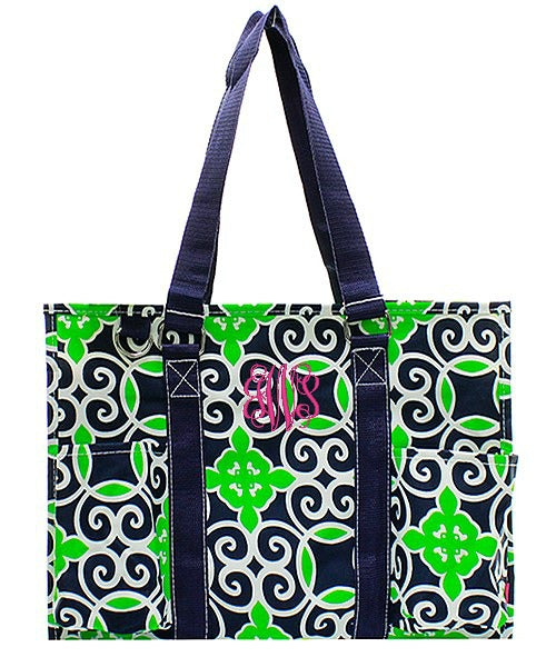 "Personalized 15"" Large Organizing Utility Tote Bag Beach Diaper"
