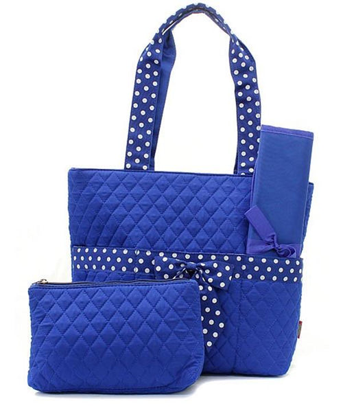 Quilted Diaper Bag Baby Tote & Changing Pad Set