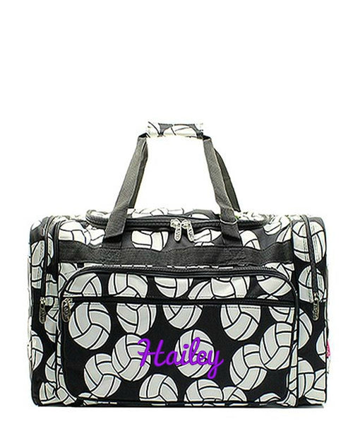 "Personalized 17"" Duffle Gym Bag Sports Carry On Travel Tote"