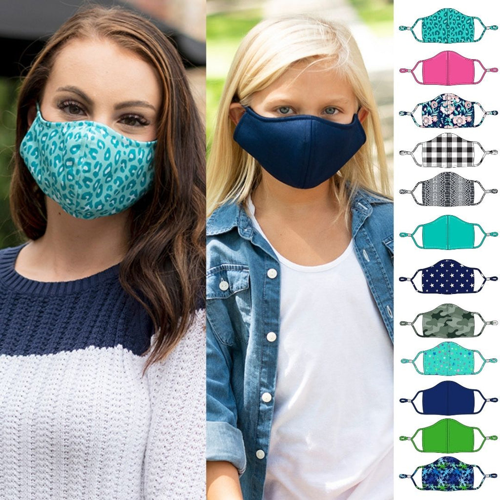 Retired Patterns - Face Masks for Adults & Kids - Adjustable - Patterned Fabric - Adults $5.95, Kids $3.95