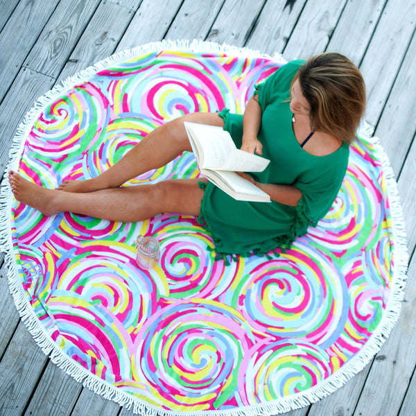 Personalized Round Beach Towel