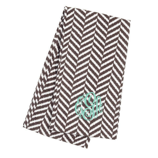 Personalized Embroidered Monogram Infinity Scarf Striped - Gifts Happen Here - 17